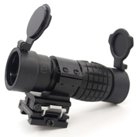 Magnifier Quick FTS Flip Side Fit Weaver Mount For Eotech Aimpoint Similar Red Dot Scope Sights