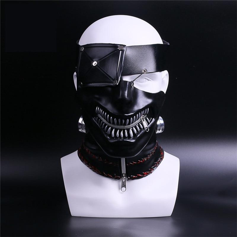 2017 Newest Moive Tokyo Ghoul 2 Kaneki Ken Masks PVC Mask Cool Zipper Adjustable Cosplay Masks Halloween Party Props Top Quality