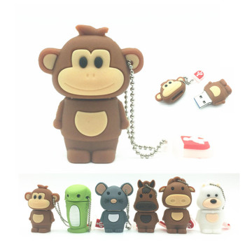 New USB Flash Drive Chinese Zodiac Animal Snake Chicken Rabbit Tiger Monkey 8GB 16GB 32GB 64GB USB Memory Stick Pendrive