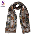 [BYSIFA] Winter Snakeskin Men Silk Scarf 2016 New Design Coffee Blue Male Long Scarves Spring Autumn All-Match Silk Mulffer