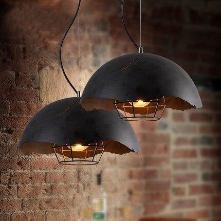 estilo loft luz colgante lmpara de marruecos de la vendimia creativa olla de hierro cafe bar