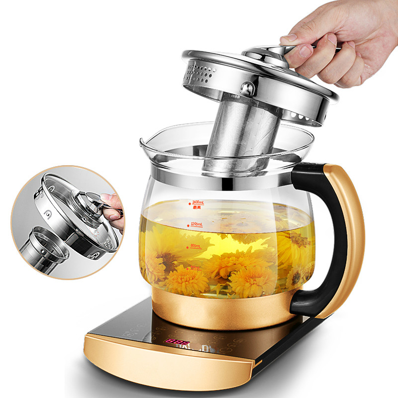 Electric kettle Health raising pot fully automatic thickened glass multi purpose multi-functional split Overheat Protection цена