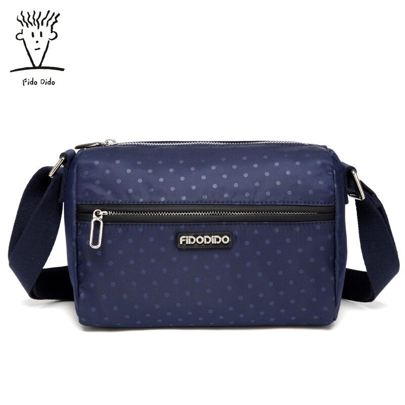 Fido Dido 2017 Fashion Women nylon Shoulder Bag Casual Crossbody handbag Casual Lady Messenger Hobo Top-handle Bags!! fido