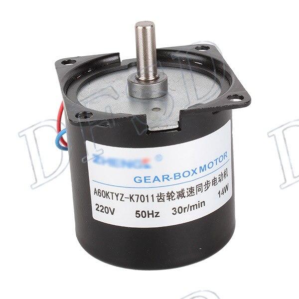 AC 220V 30RPM Gear-Box Electric Synchronous Gear Motor