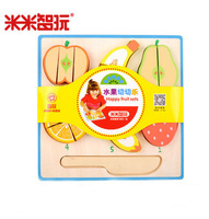 20pcs/set Wooden fruit toy fruit Colorful Pretend Toys Educational Cut Toys for Kids Baby Cut Fruit apple banana kitchen toy