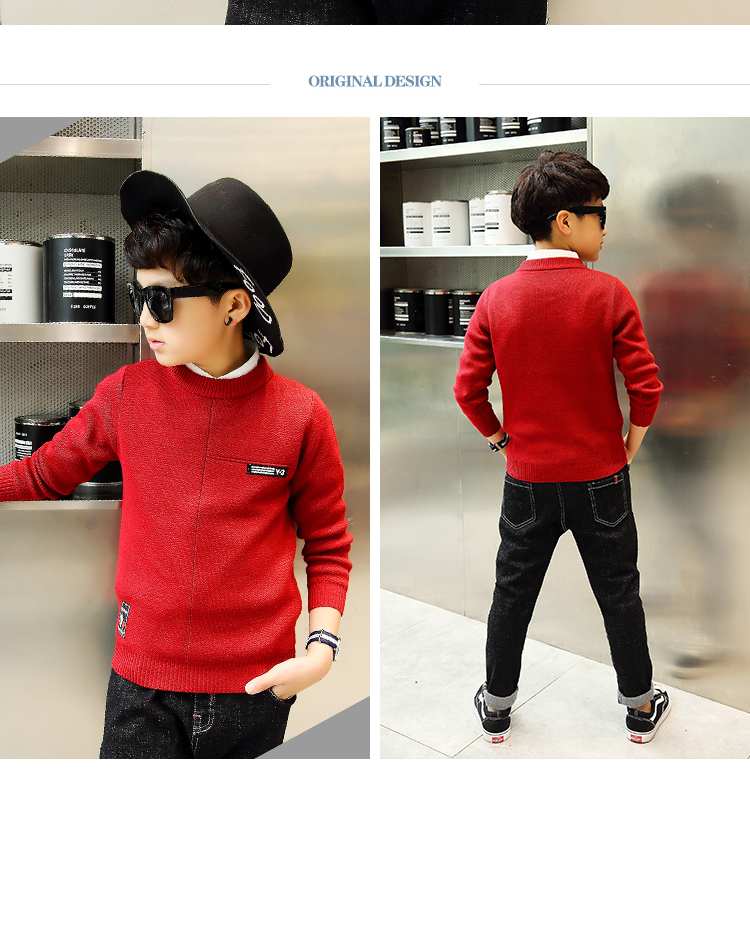HTB1hq 1aY3XS1JjSZFFq6AvupXaW - 2017 children's clothing Winter clothes Boy's sweater pullover Keep warm Sweater Warm winter Kids  clothes Boys clothes
