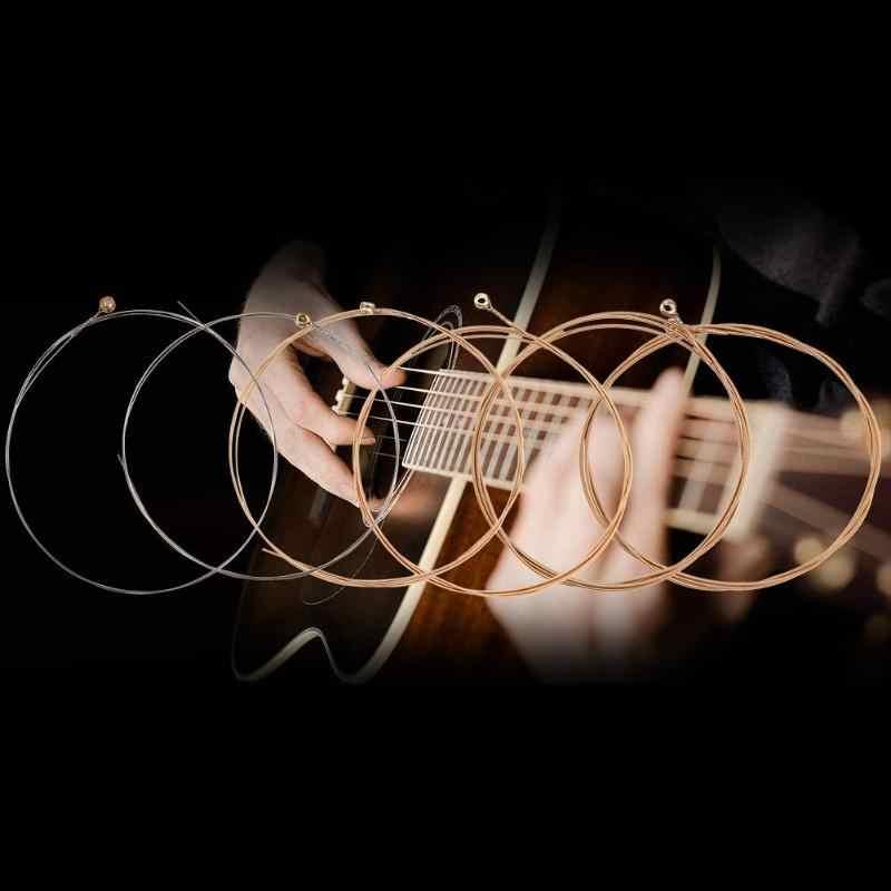 الصوتية وتر غيتار النقي Strigning ل الغيتار باس أجزاء اكسسوارات سلاسل لالقيثارات الصوتية E-1st B-2nd G-3rd D-4th