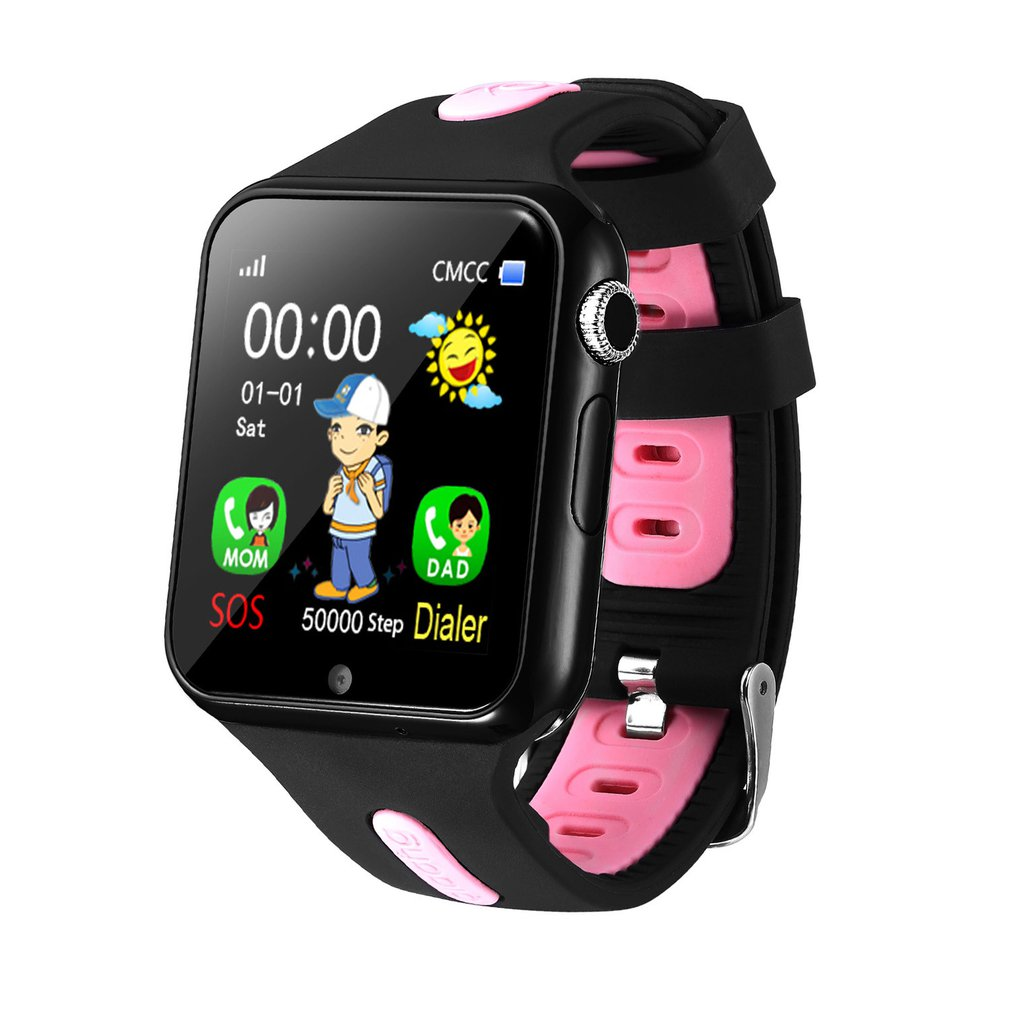 V5+ Touch Screen Children Smart Watch Waterproof Photo Call Kids Smart Multi function Positioning Bracelet Clock Kids Gift