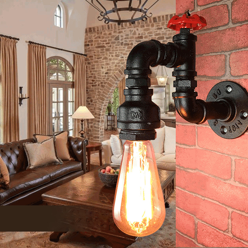 Loft Retro wall Lamp led Creative Lifting Pulley Faucet Wall Light Dining Room Restaurant Aisle Corridor Pub Cafe Bra SconceLoft Retro wall Lamp led Creative Lifting Pulley Faucet Wall Light Dining Room Restaurant Aisle Corridor Pub Cafe Bra Sconce