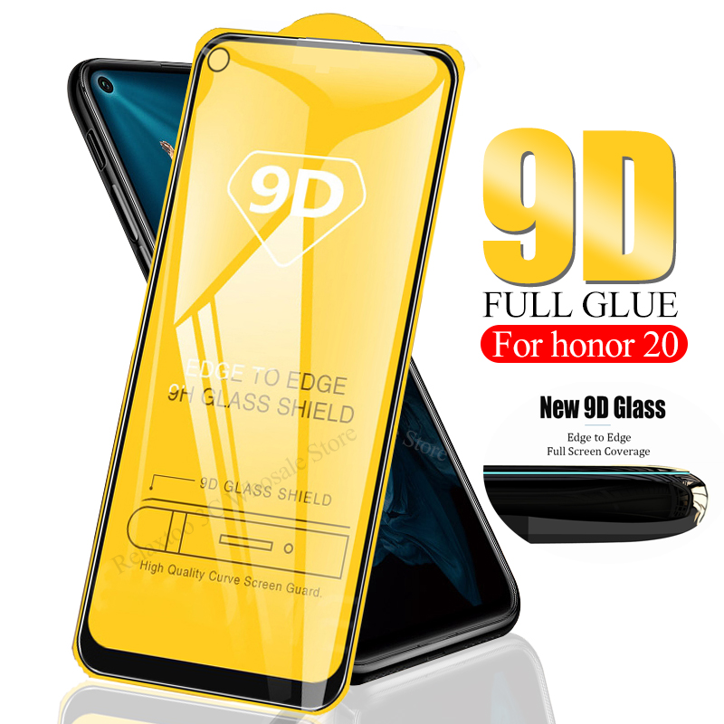 9D Full Glue Curved On Honor 20 Protective Glass For Huawei Honor 20 Glass Tempered Glas Honor20 Hauwei Hono Safety Phone Film