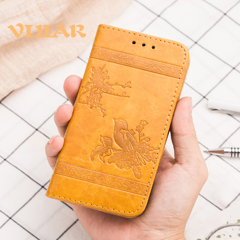 100% Quality Vijiar High Grade Five Colors Flip Pu Leather Phone Back Cover Cases 5.5'for Htc One E9 Case