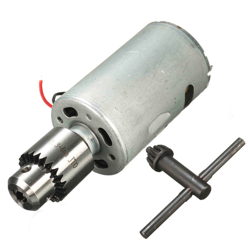 1pc DC 12V-24V 555 Motor For DIY Electric Hand Drill With One 0.3-4mm JT0 Taper Micro Drill Chuck