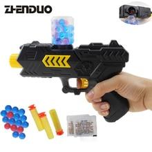 Zhenduo игрушки открытый бой съемки игрушечный пистолет 2-в-1 гель мяч пистолет Водяная бомба с Оригинальная коробка