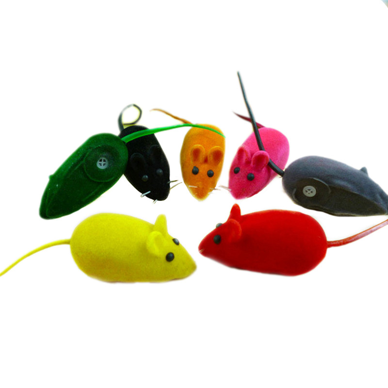 Fun Sound Chew Toy False Mouse Rat Pet Cat Kitten Dog Puppy Playing Squeaky