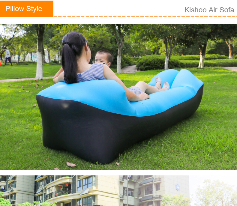 C&ing Lazy Bag Lay Bag Sleeping Bag Fast Inflatable Lounge chair Air Sofa Sleeping Beach Bed Bag Banana Laybag Modern Home Air Furniture Foldable Gas Lazy ... : blow up lounge chair - Cheerinfomania.Com