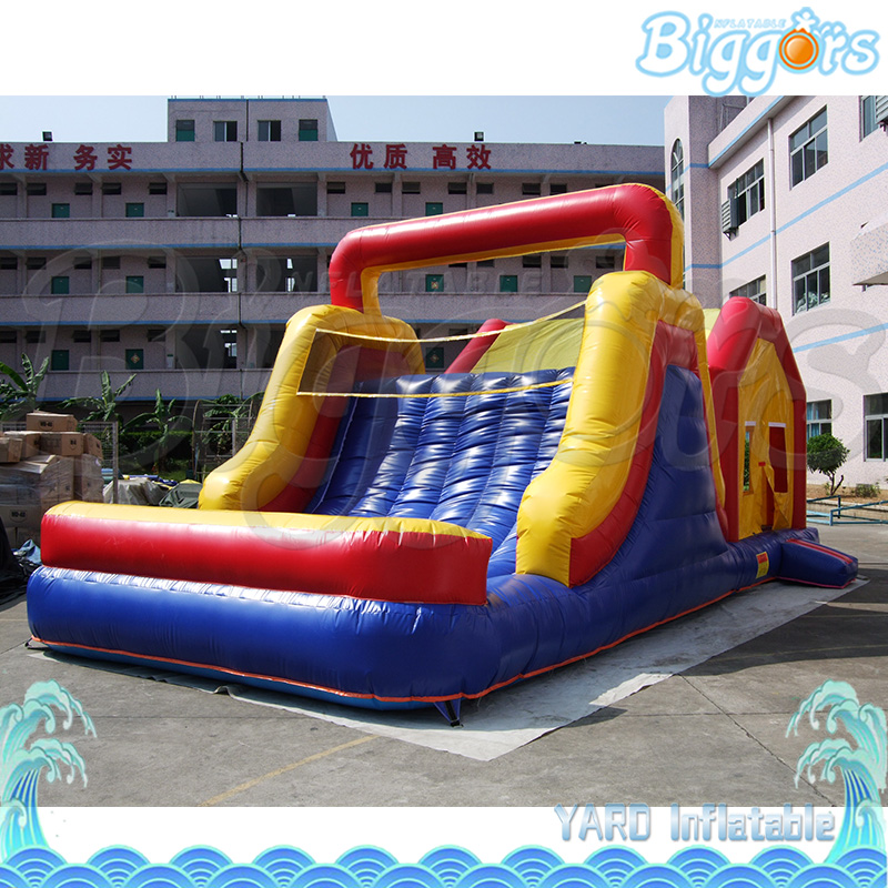 Commercial PVC Inflatable Bounce House Inflatable Castle with Slide For Game цена