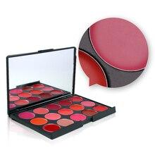 Miss Rose 15 Colors Matte Lipstick Palette Waterproof Nutritious Lips Makeup Long Lasting Brand