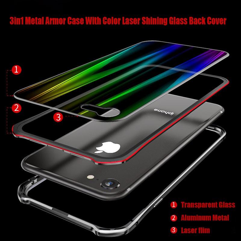 Di lusso Del Respingente Del Metallo di Caso Armatura Per Apple iPhone XS Max XR X 8 7 iPhone8 iPhoneX iPhone7 Caso Per coque iPhone XS Caso di Lusso