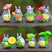 (8pcs/lot) My neighbor Totoro figure gifts doll miniature figurines Toys 2.6-3.5cm PVC plactic japanese cute lovely anime. PY064