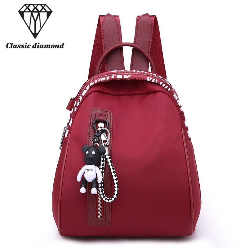 New korean style women backpacks high quality waterproof nylon retro fashion shoulder bag ladies school bags for teengers girls воблер tsuribito super shad f mr цвет серебристый золотой 501 длина 7 5 см 11 5 г
