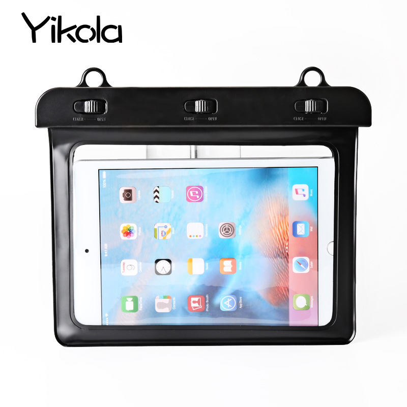 For Apple mini 8 Tablet Waterproof Bag Outdoor Rafting Waterproof Bag For I pad 1 2 3 4 Outdoor Sports Waterproof Bag 9.7 case
