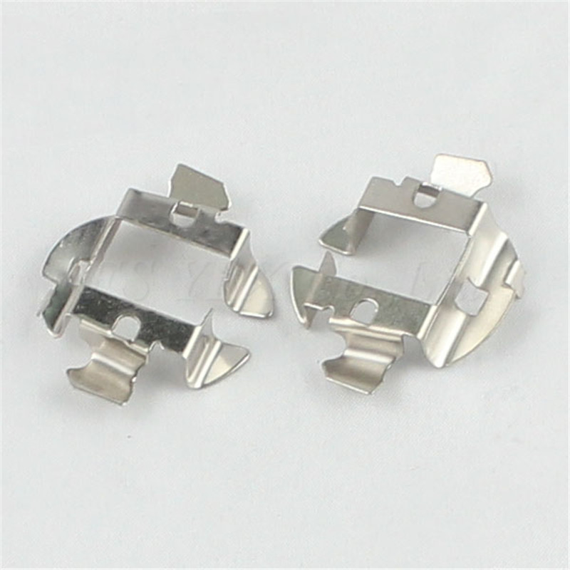 2pcs H7 Hid Metal Clip Retainer Adapter Bulb Holder For