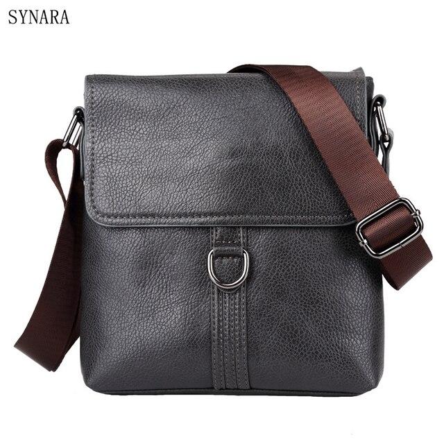 69709798e4 2017 Fashion Business Leather Men s Messenger Bags Designer Handbags High  Quality Crossbody Vintage Shoulder Man Bag