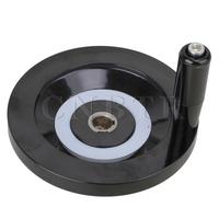 Machine Milling 16 X 160mm Back Ripple Handwheel Black Revolving Handle Grip