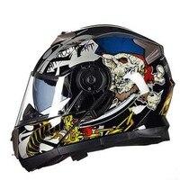 2017 New GXT G 160 Four Seasons Open Face Motorcycle Helmets Double Lens Undrape Face Motorbike