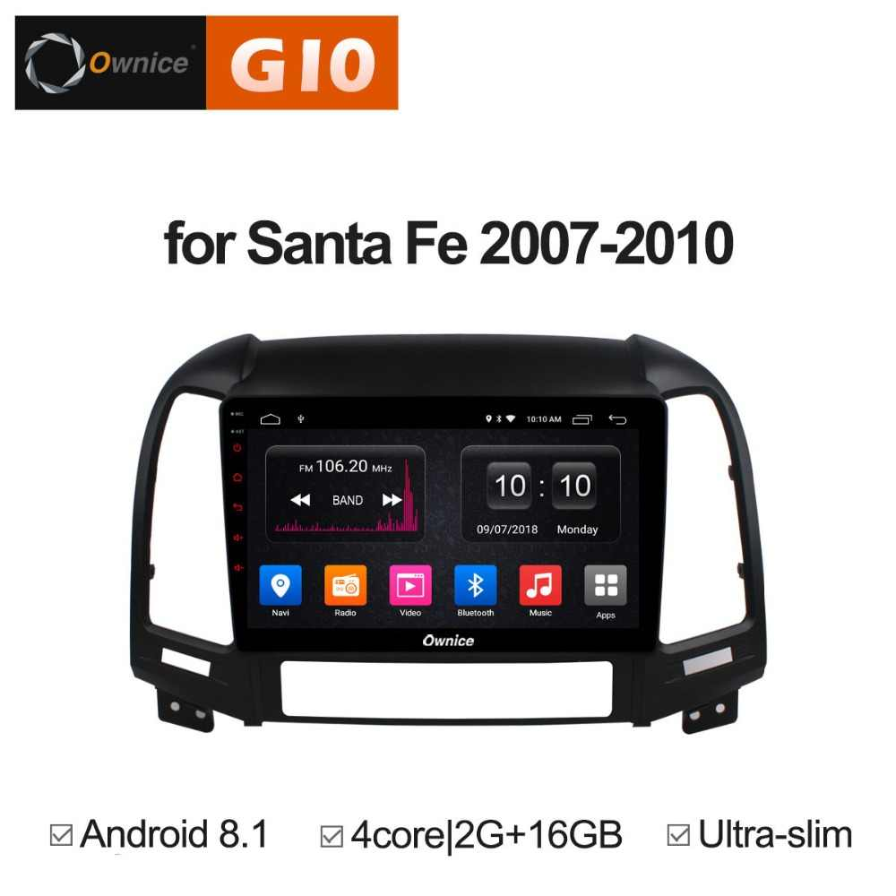 9 inch Android 8.1 Quad 4 Core 2 gb RAM + 16 gb ROM Radio Voor Hyundai Santa Fe 2007 -2010 Auto DVD Speler GPS Navigatie Stereo BT WIFI