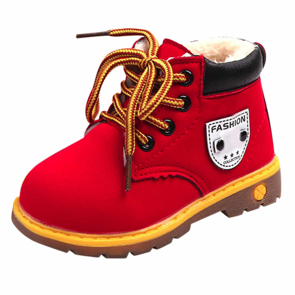 snow boots for boys Baby Shoe 2018 Fashion Winter Soft Boots Baby Boys Girls Martin Sneaker Warm Soft Boots Snow Anti Slip Shoes
