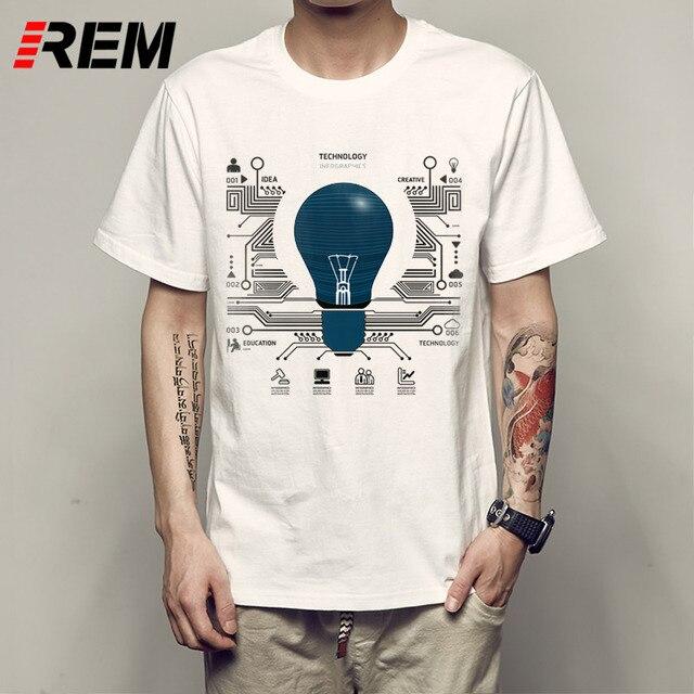 00a41c415 REM Cool T Shirt Designs Short Crew Neck You Got Litt Up! Funny Comedy  Light Bulb Summer Mens Tee Shirt P531828