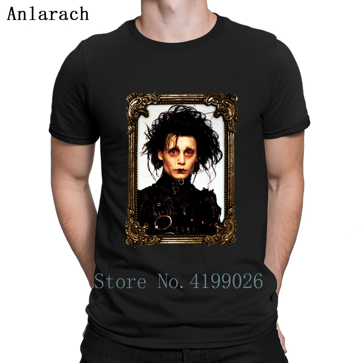 Edward Scissorhands T Shirt Natural Websites Designs Classic Mens T Shirts S-3xl Anti-Wrinkle Basic Solid Summer Style Funky image