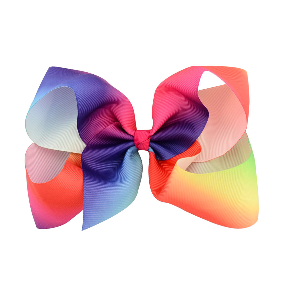 Cheerleader Hairbow Gradient Color Cheer Bows  3 PIECES Elastic Colorful Girl's Cheerleading Hair Bow