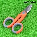 KELUSHI Fibra Óptica Corte de Kevlar de fibra de aramida Kevlar tijeras afiladas Para fibra coleta jumper cable pigtail FTTH Herramientas