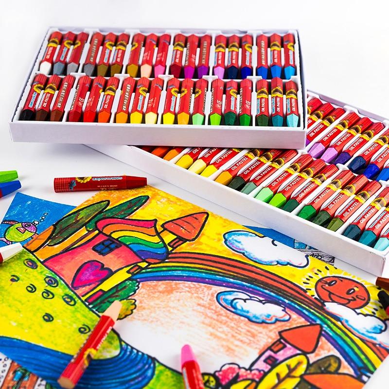 48 Colors Oil Pastel for Artist Children's Graffiti Painting Drawing Pen School Stationery Art Supplies Soft Crayon Art Creation ezone 20 colors wax crayon korean creative graffiti kawaii pens for kids painting drawing art supply school reward office supply