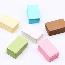 100 unids/caja de piel de vaca de Color de tarjeta nueva de papel Kraft en blanco diez opciones tarjeta para manuscrito