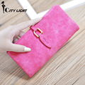 CITY LIGHT New arrival Women wallets vintage Nubuck Leather long style wallet hasp ladies long purse day clutch