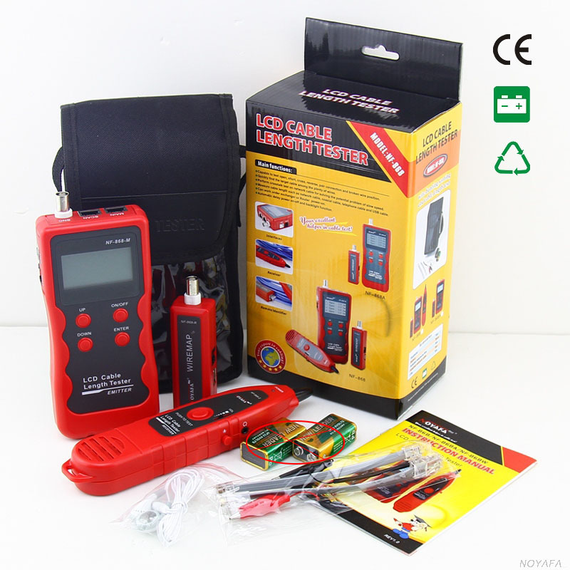 NF 868 digital Cable Tester Tracker for RJ45 RJ11 BNC USB Anti jamming Metal Cable test
