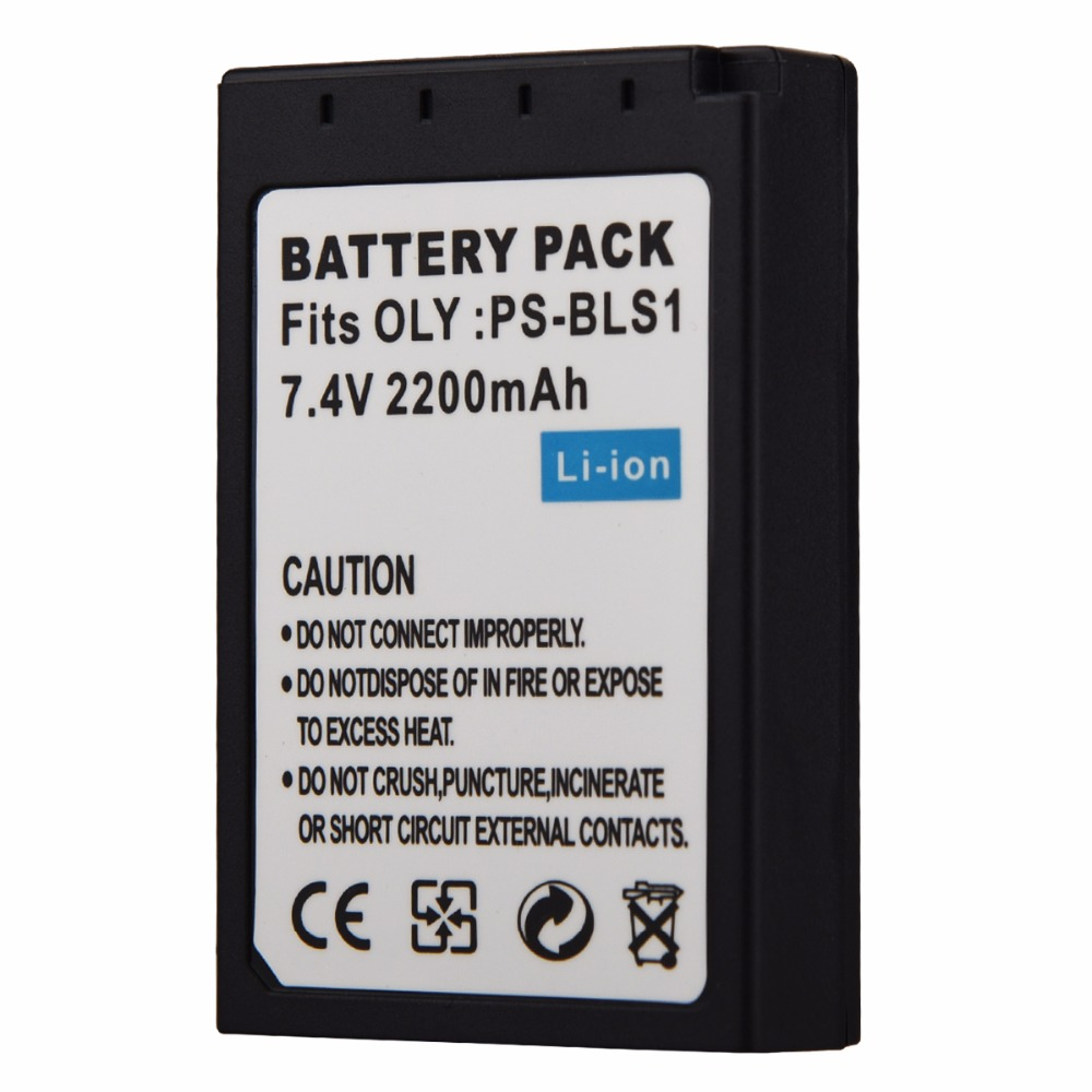 1PCS 2200mAh PS-BLS1 PS BLS1 Camera Rechargeable Li-ion Battery For OLY. EP2 EPL1 EPL2 EP1 EP2 Replacement Digital Batteria image