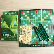 Scrabble Games Kid Crossword Puzzles Children Board Spelling Table Jigsaw Words Teaching Aid Fun Educational Toys