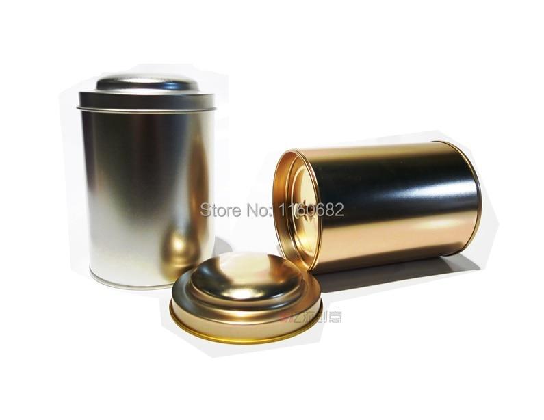 8,3 * 13,5 cm Kulatá těsnící plechová nádobka / čajová - Organizace a skladování v domě