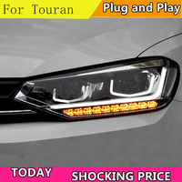 Car Styling Head Lamp case for VW Touran Headlights Touran 2016 2017 LED Headlight DRL Lens Double Beam Bi Xenon HID