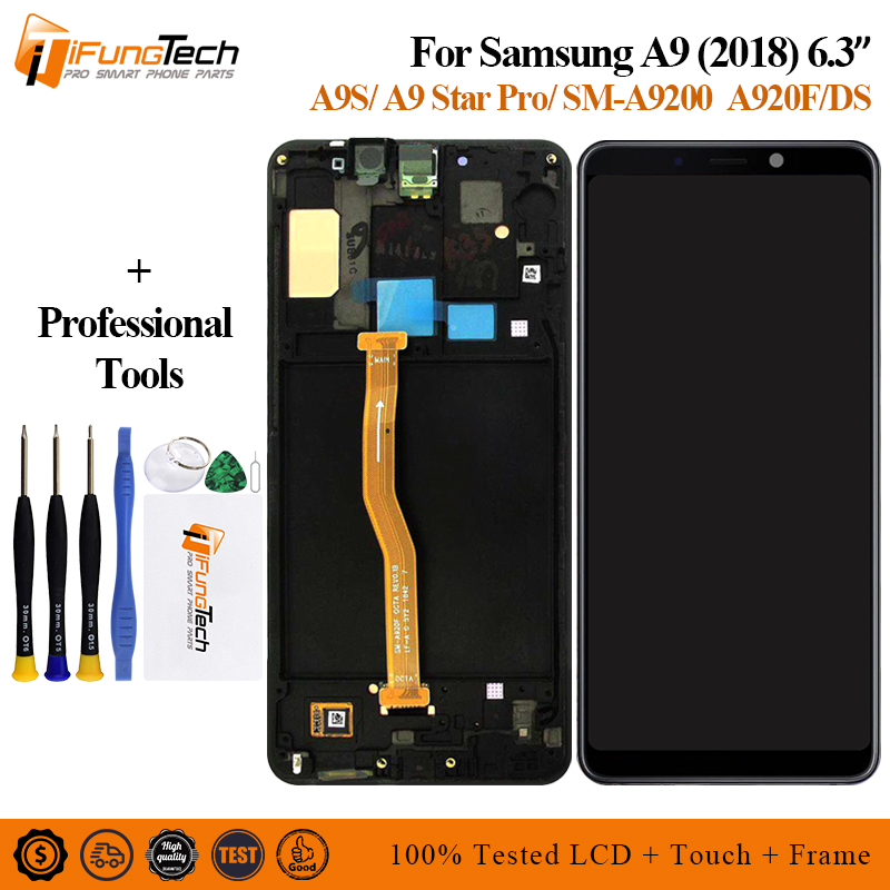 For Samsung Galaxy A9 2018 A9s A9 Star Pro SM A920F DS LCD Display Touch Screen
