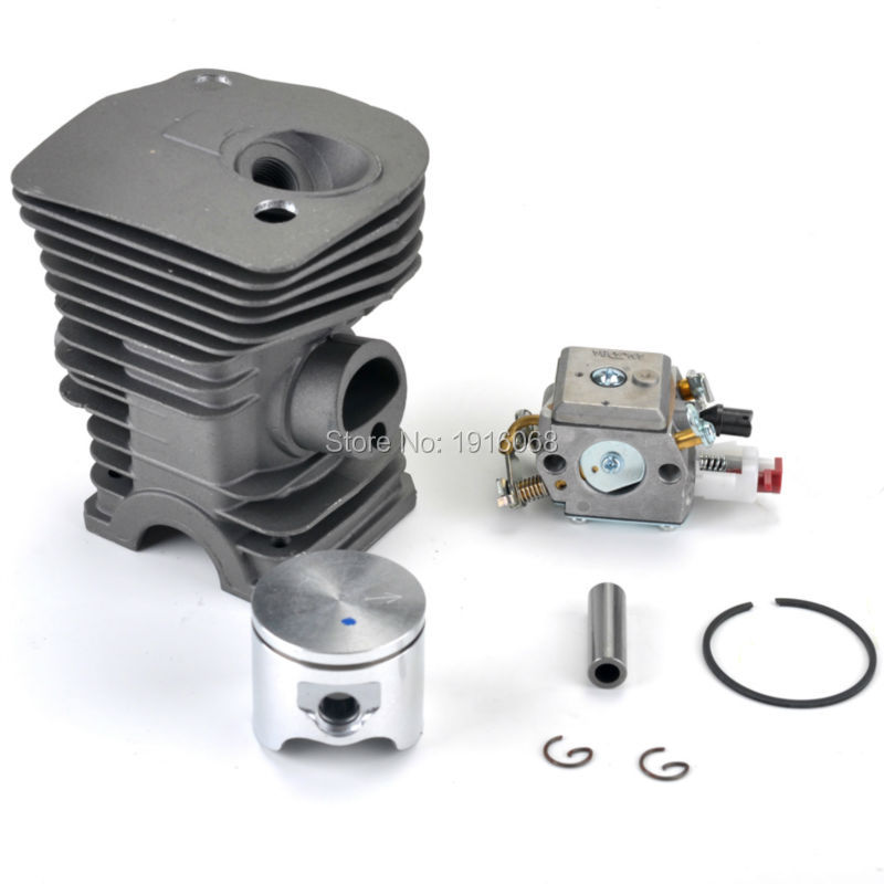 2016 Brand New Cylinder Piston Kit for HUSQVARNA 340 345 Chainsaw Carburetor Carb #503870276 chainsaw piston assy with rings needle bearing fit partner 350 craftsman poulan sm4018 220 260 pp220 husqvarna replacement parts