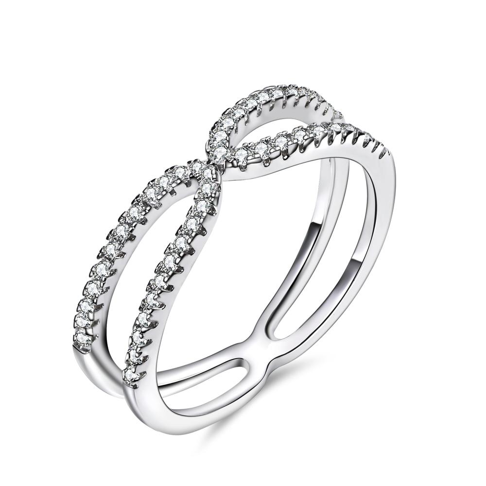 Wholesale price! New fashion ladies finger Rings rhodium plated CZ setting Ring engagement Ring fashion jewelry Free shipment
