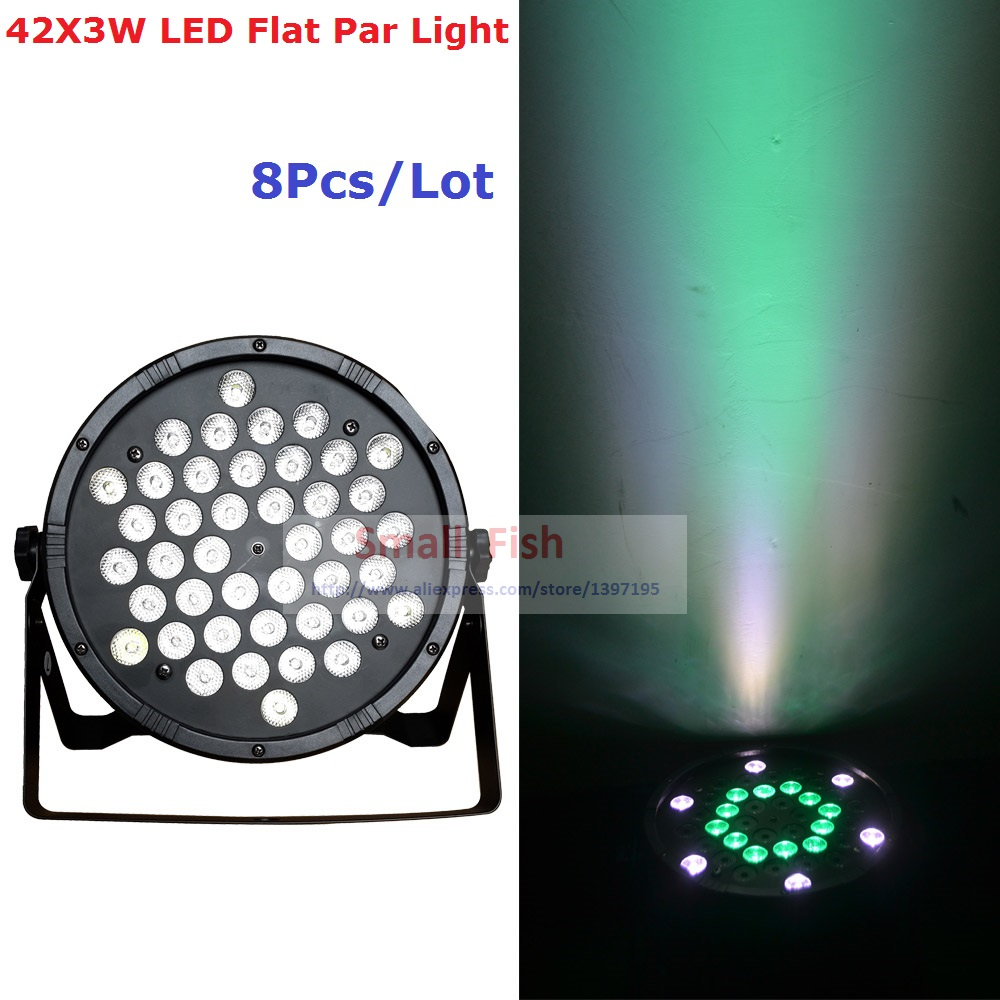 8Pcs/Lot Factory Price 120W Led Flat Par Light Hi-Quality 42X3W RGBW Single Color Led Stage Lights For Party Wedding Discos trd 2t1200b rotary encoder new in box free shipping
