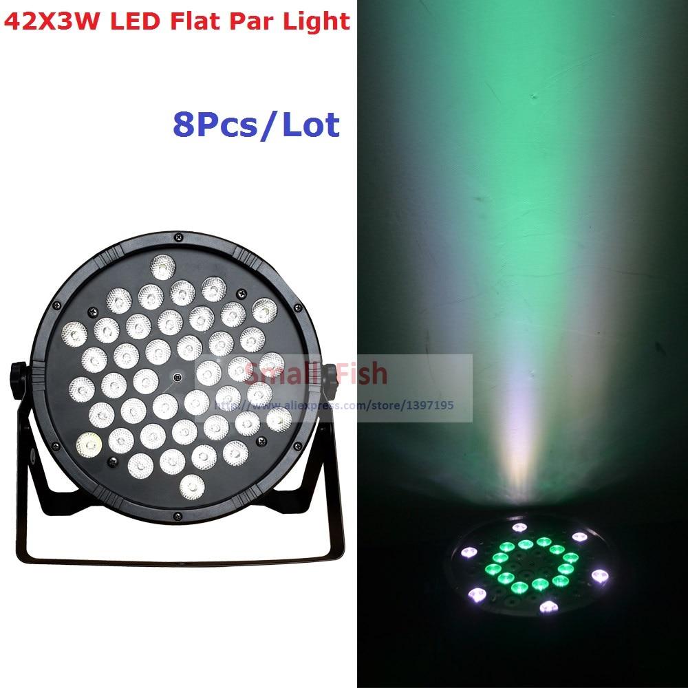 8Pcs/Lot Hi-Quality Led par light 42X3W RGBW led party lights Disco DJ Lighting DMX512 Disco dj light