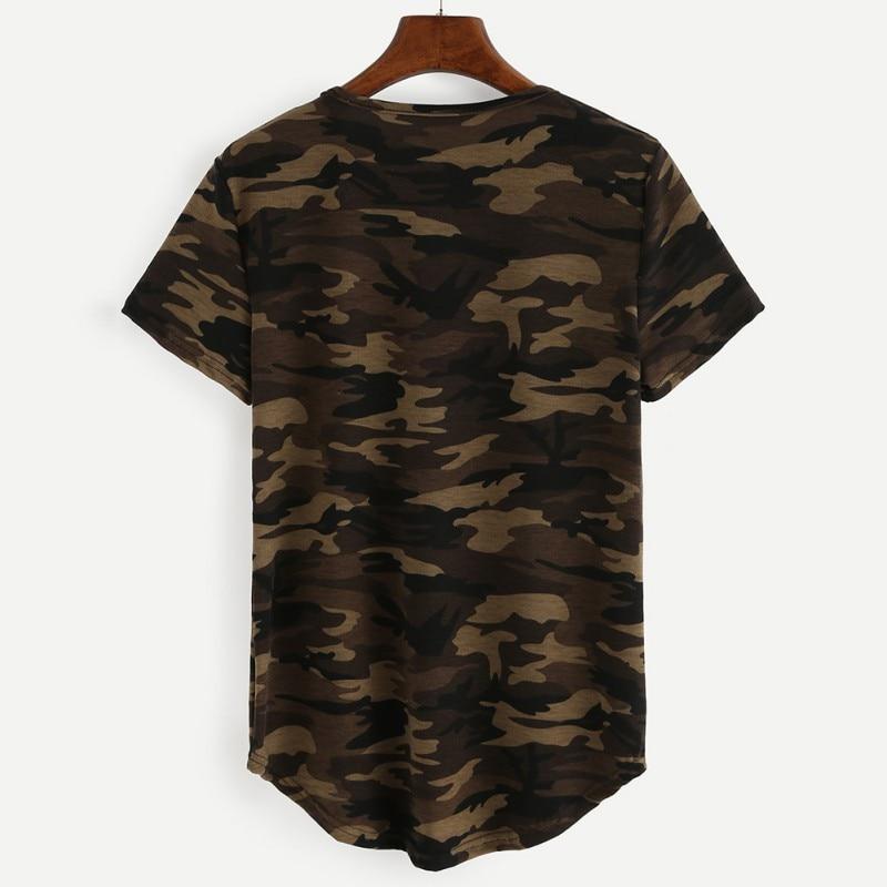 Nieuwe Dames Kleding T-shirts Zomer Leger Korte mouw Tops Camouflage - Dameskleding - Foto 3