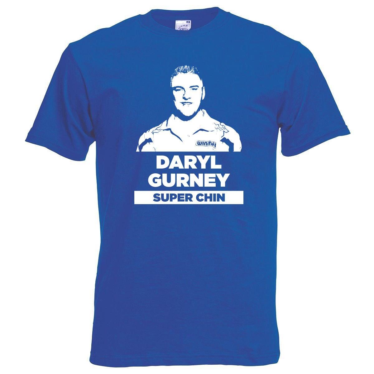 Дэрил Gurney супер подбородка вытачки синяя футболка унисекс S-XL неофициальный